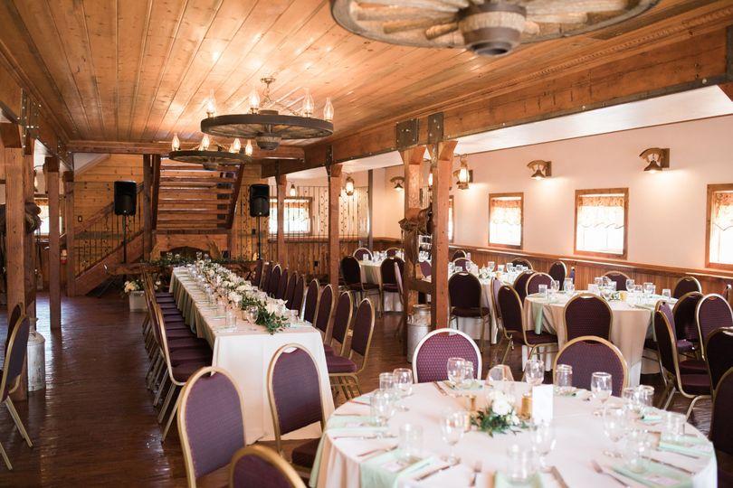 Barn main floor on wedding day