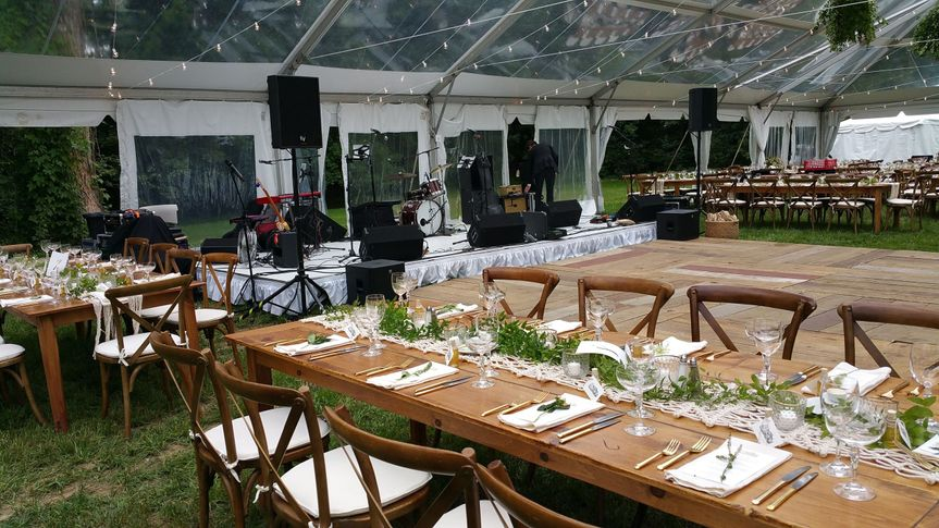 Sound systems of all sizes to serve all your needs whether a simple ceremony or a large scale band.