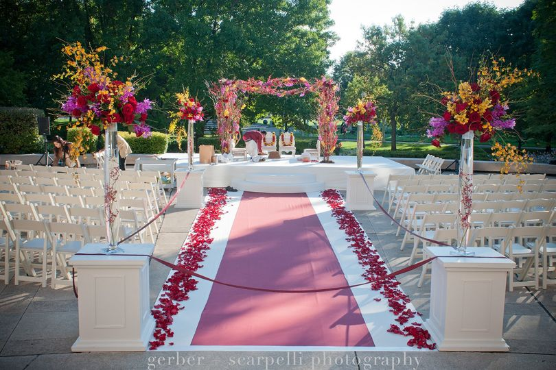 Colorful wedding event