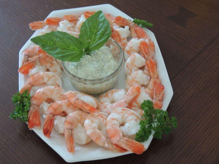 Roasted shrimp w/pesto