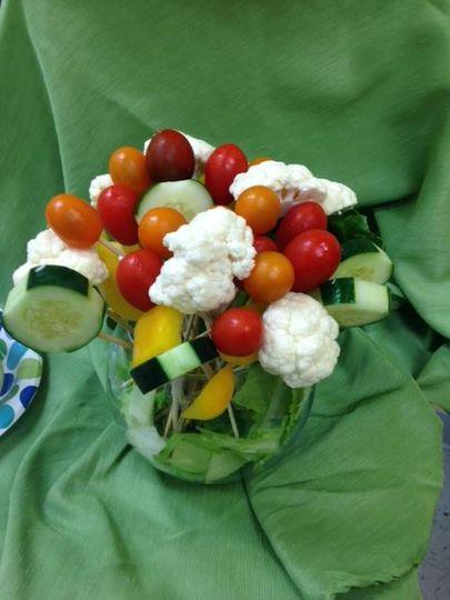 Vegetable crudite bouquet