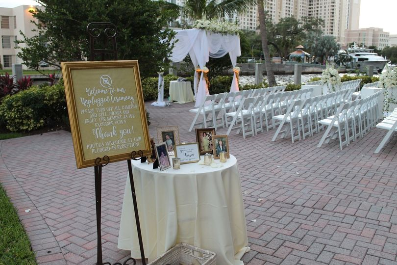 Chuppah on River Patio
