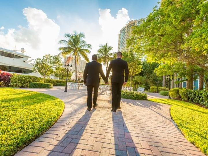 Tmx 1427731707689 River Patio Couple Fort Lauderdale, Florida wedding venue