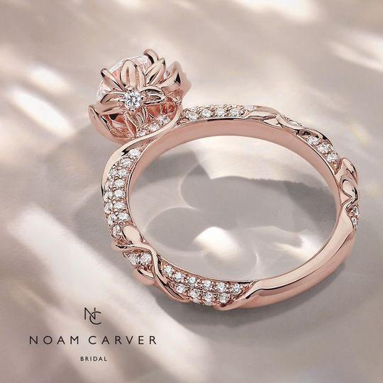 Rose Gold Diamond Shank Ring