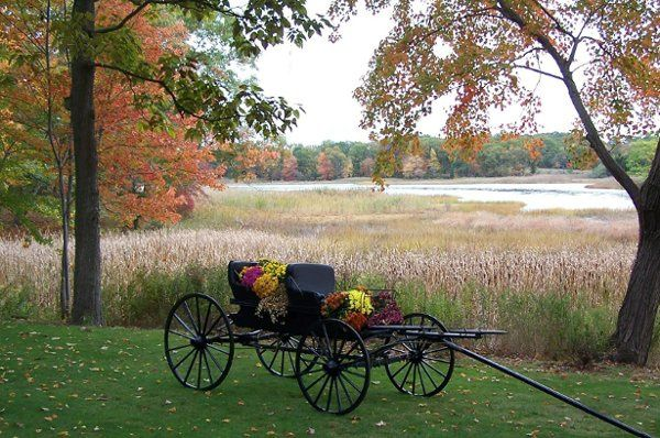 Mid October Carriage overlooking Paynes Cove along the Assonet River