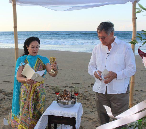 Beach nuptials