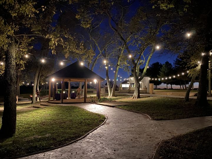 A path at nighttime