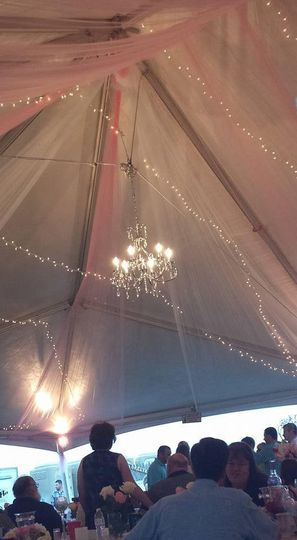 Ceiling of the tent