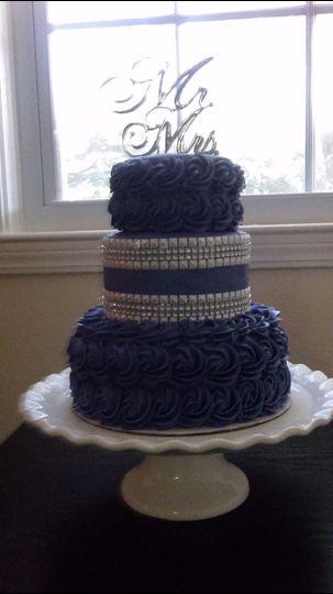 rosette wedding cake2