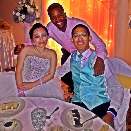 DJ at the newlyweds' table