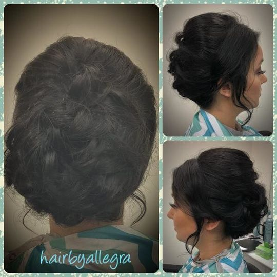 Details of hairstyle