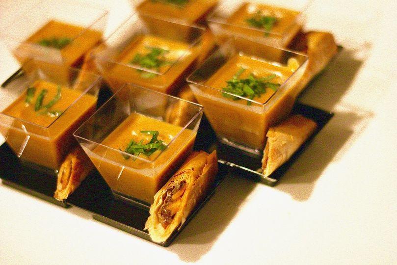 Butternut Soup   Cheese Cigar