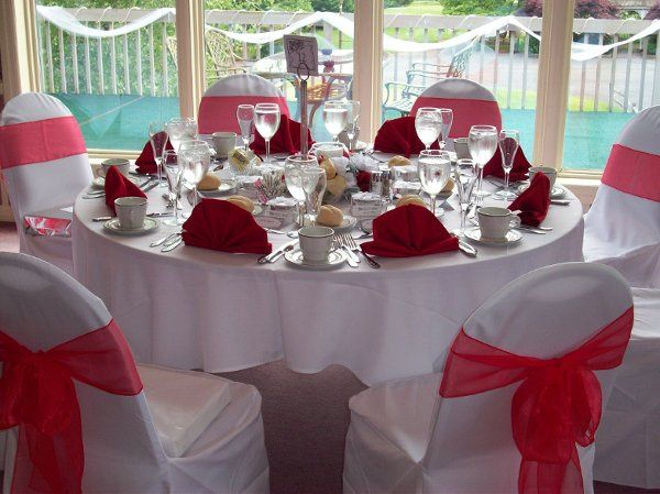 Linen Rentals and Set-up available