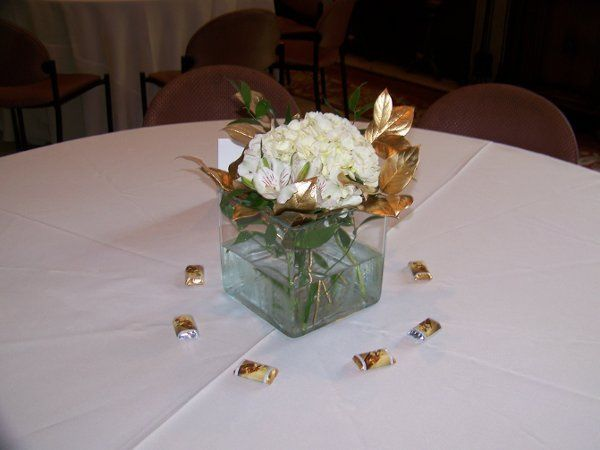 50th Anniversary Table Deco at the Harwelden Mansion