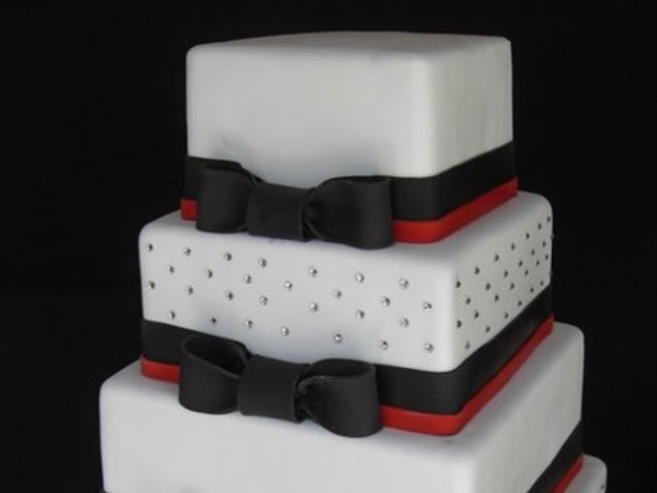 Tmx 1334620615112 BlackBowties18 Chino Hills wedding cake