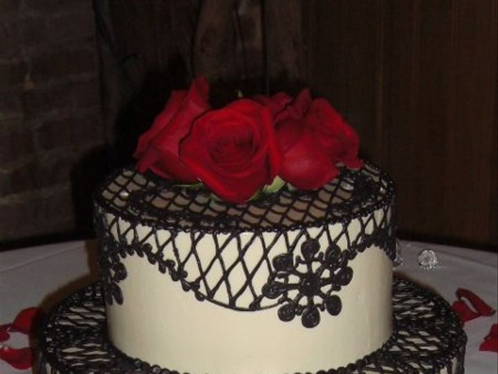 Tmx 1334620616614 BlackLace13 Chino Hills wedding cake