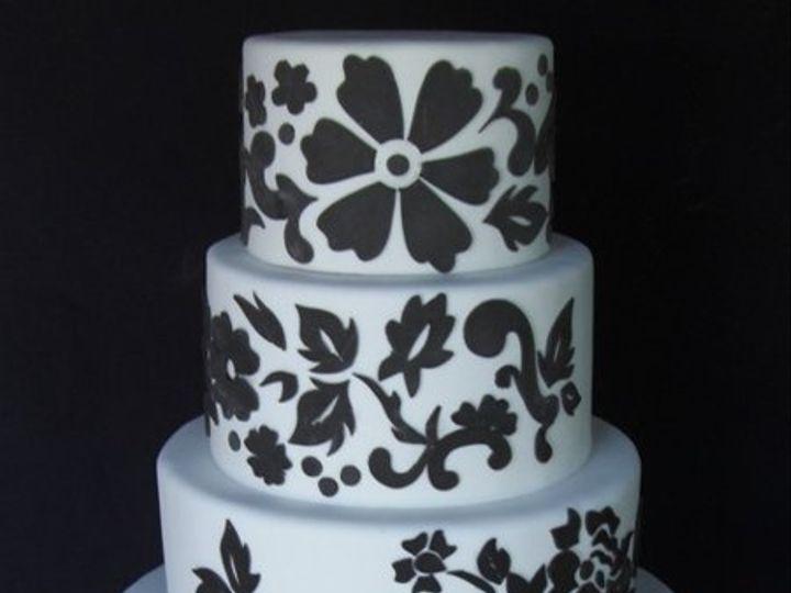 Tmx 1334620621708 FloralCutouts10 Chino Hills wedding cake