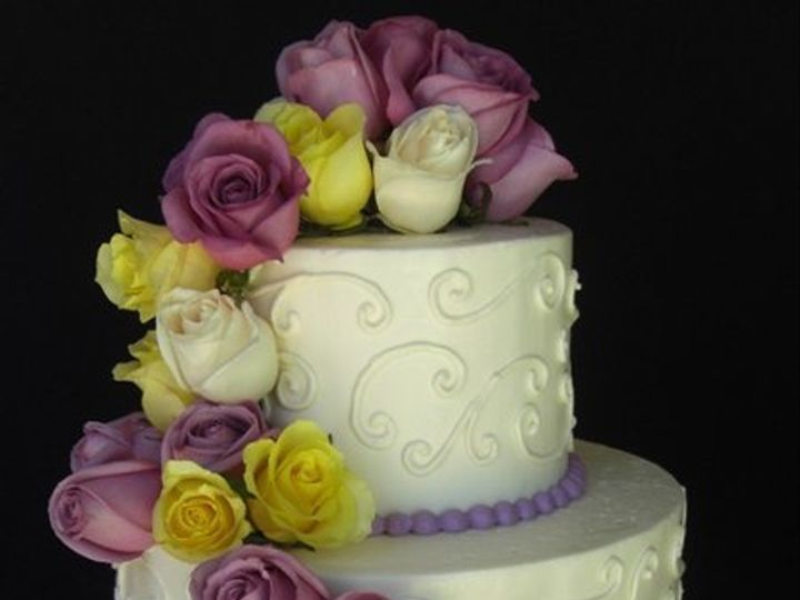 Tmx 1334620623500 FreshRoses3 Chino Hills wedding cake