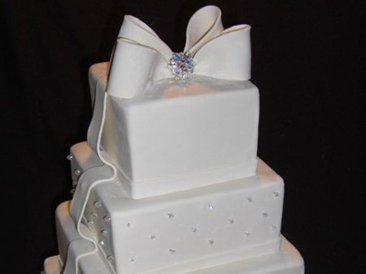 Tmx 1334620625718 IvoryRibbons2 Chino Hills wedding cake