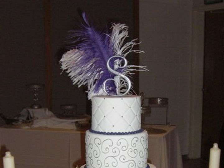 Tmx 1334620633021 PurpleDotsandQuilting4 Chino Hills wedding cake