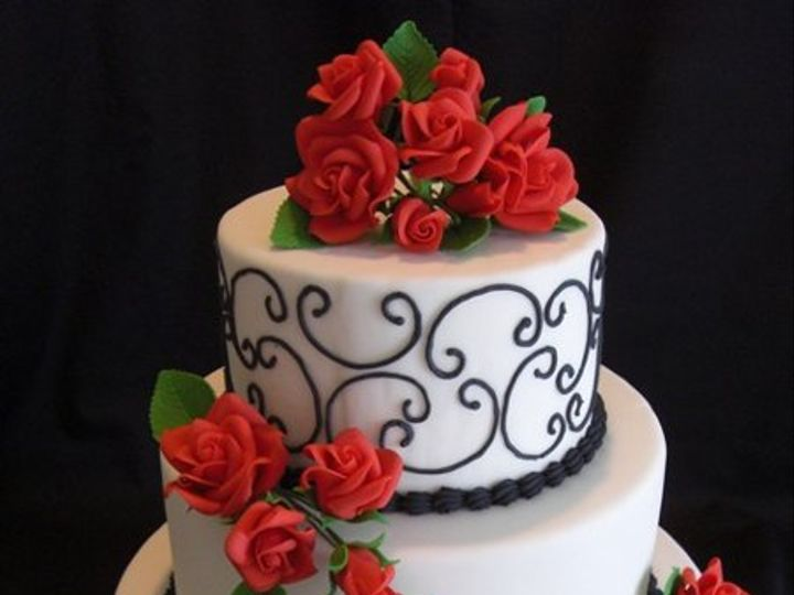 Tmx 1334620638405 Roses13 Chino Hills wedding cake
