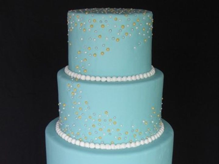 Tmx 1334620641305 TealwithPearls5 Chino Hills wedding cake