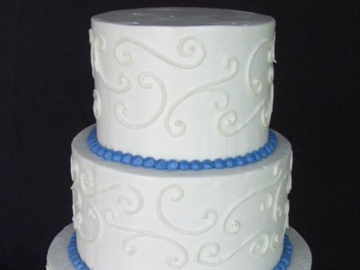 Tmx 1334620643167 WhiteScrolls8 Chino Hills wedding cake