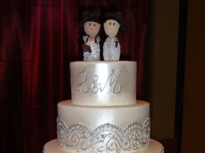 Tmx 1361638949883 RibbonandLace9 Chino Hills wedding cake
