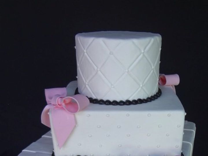 Tmx 1361638952879 PinkBows5 Chino Hills wedding cake