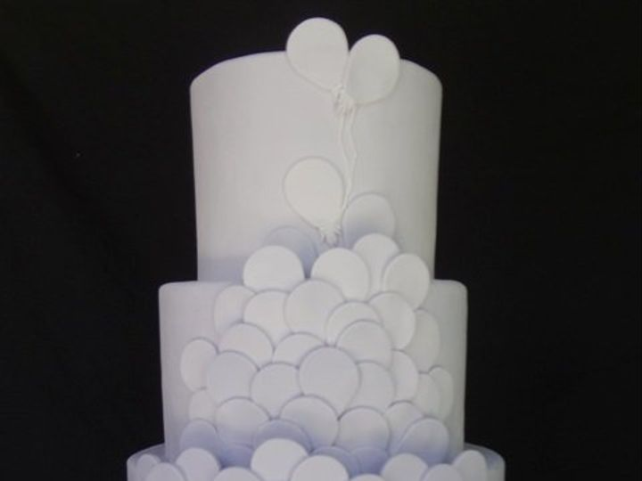 Tmx 1361638956741 PurpleBalloons1 Chino Hills wedding cake