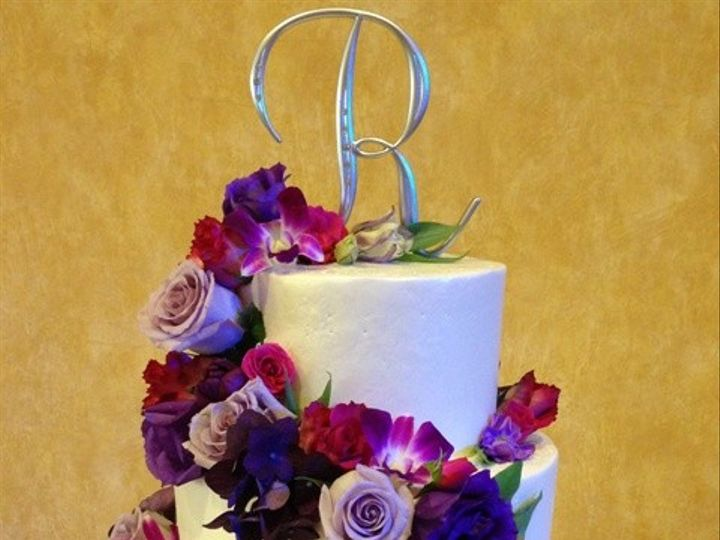 Tmx 1371662477194 Fresh Purple Flowers 3 Chino Hills wedding cake