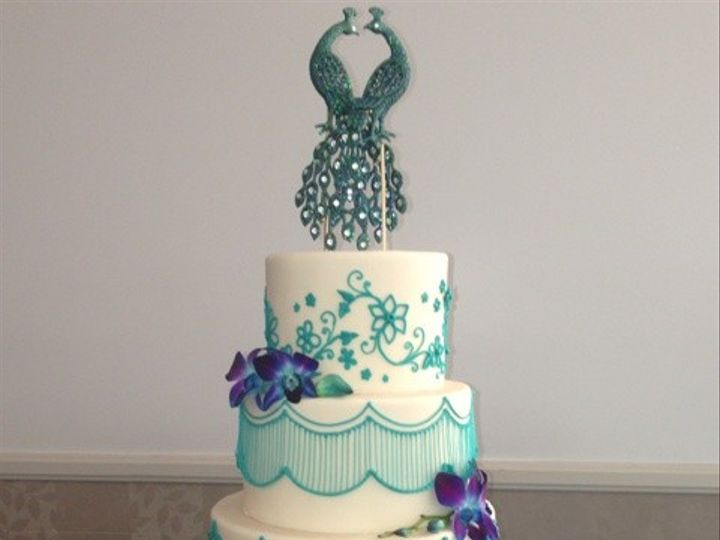 Tmx 1371662479038 Peacock 1 Chino Hills wedding cake