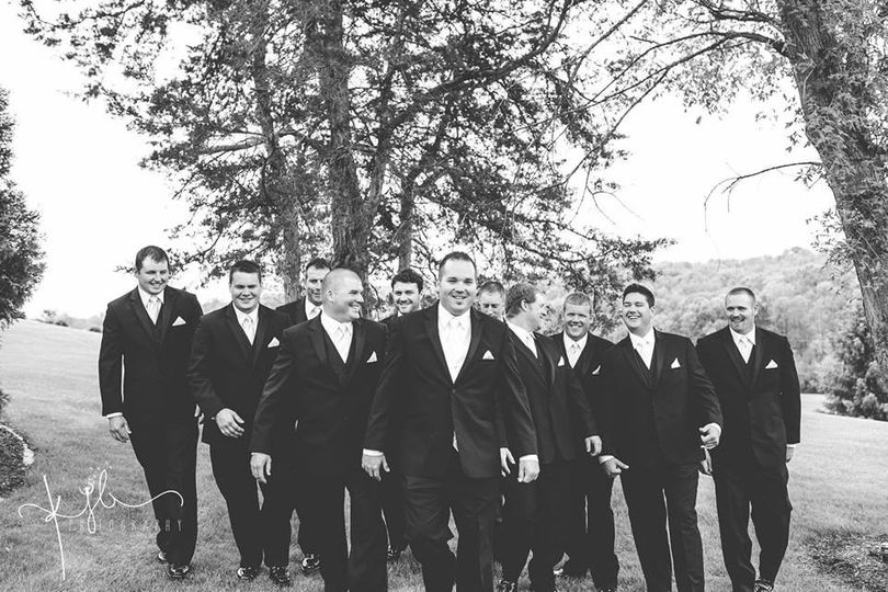 group photo with the groomsmen