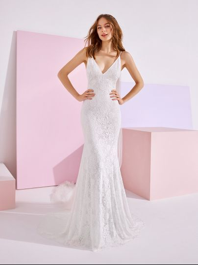Lace fitted Gown