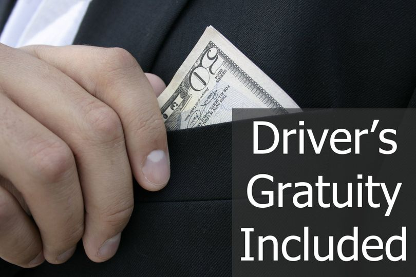 Driver's gratuity is included in all of our wedding limousine packages.
