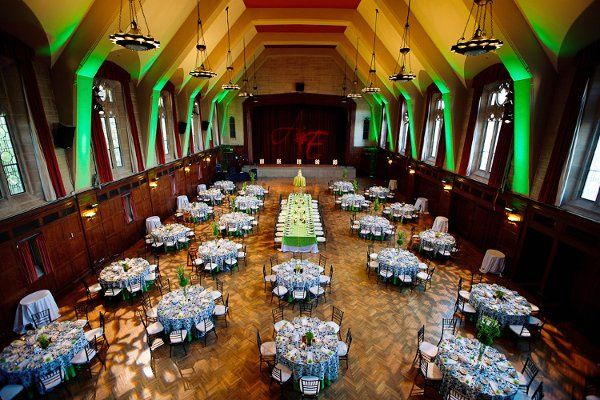 Indoor wedding venue setup