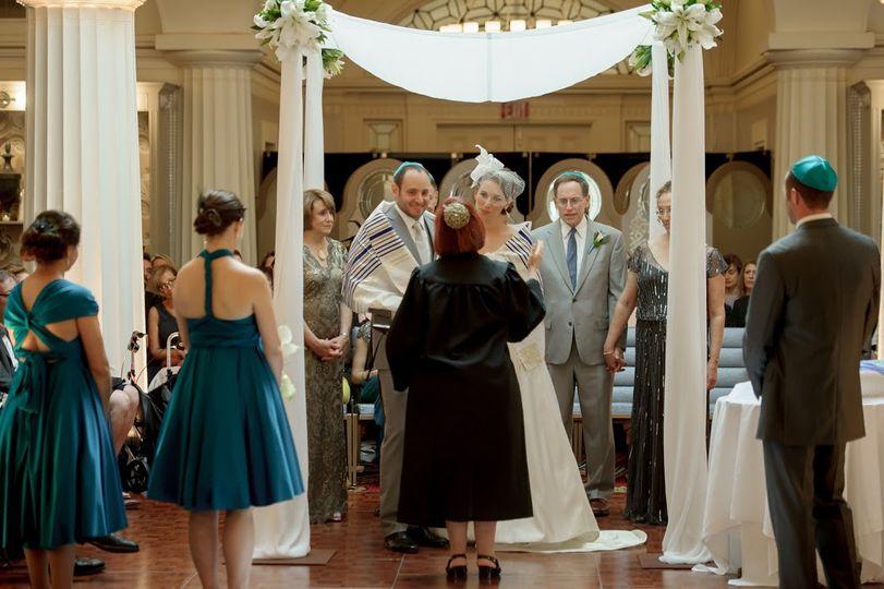 Beautiful, happy wedding party