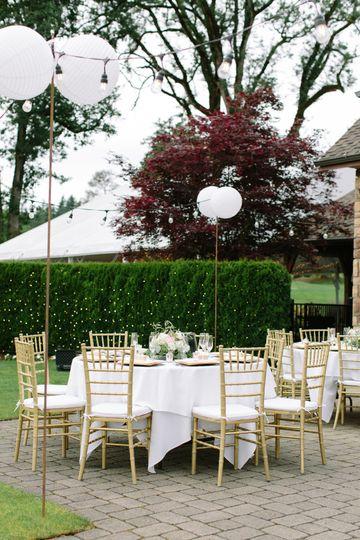Outdoor seating for a receptio