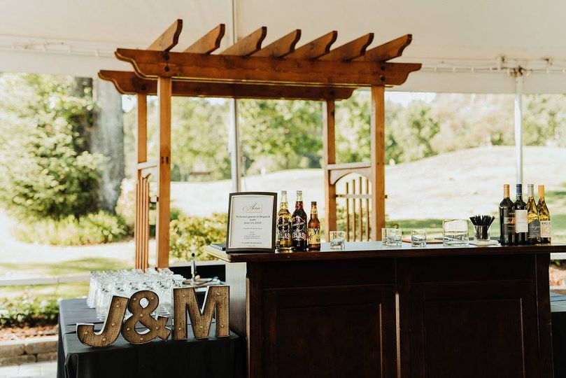 Bar in the tent