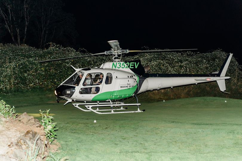 Helicopter sendoff