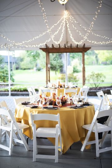 Rehearsal dinner in the tent