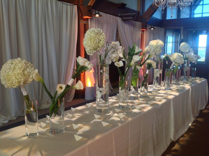 Wedding Reception Lighting - Texture Break Up on Escort Table - Sundeck (top of Aspen Mountain)...