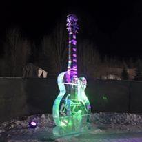 Outdoor Ice Sculpture Lighting - X-Games - Aspen, CO