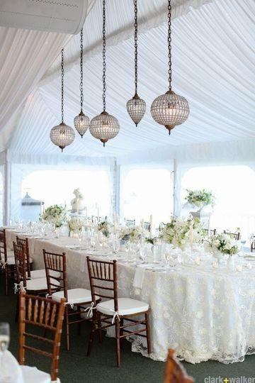 Beautiful Head Table Decor at Wedding ReceptionRenaissance Floral Clark+Walker PhotographyDebbie @...