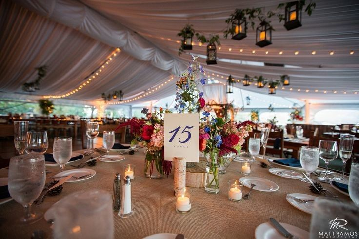An amazing wedding reception that was tented for the Fall Season.Debbie @ Ruby Red Shoes...