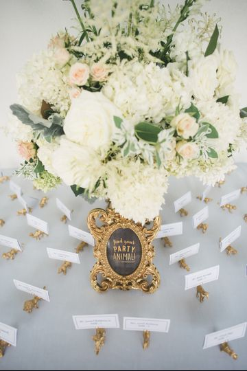 Guest Place Cards are set in A-Z order  for easy locating guests names with table location.Let the...