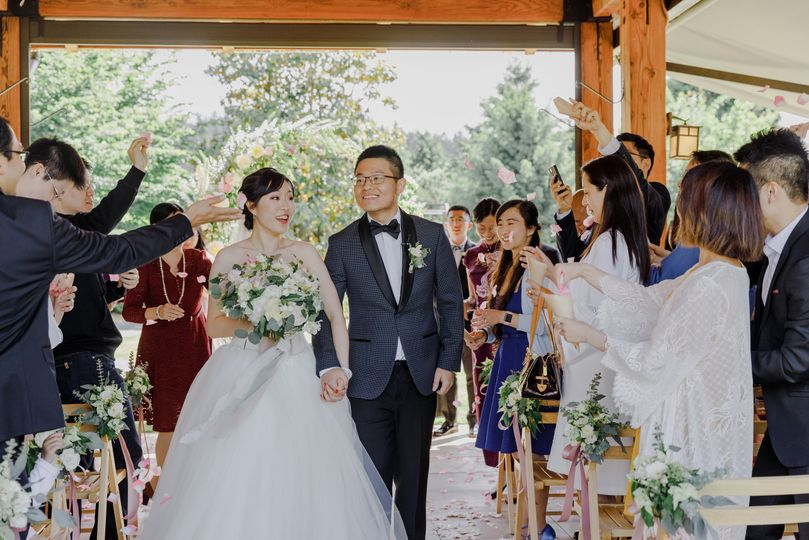 Cheers to newlyweds
