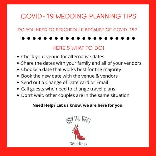 COVID-19 Wedding TIP