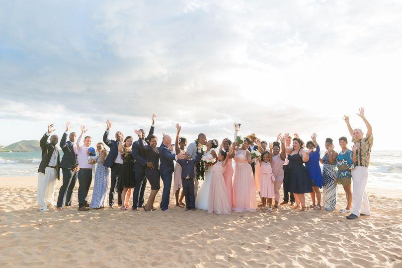 Maui Wedding Group photo by Karma Hill Photography in Maui, Hawaii