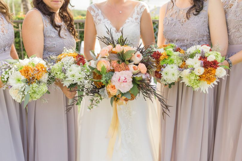 Beautiful Maui bridesmaid bouquets photographed by Karma Hill Photography